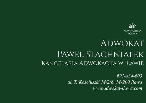 Adwokat Paweł Stachniałek Kancelaria Adwokacka